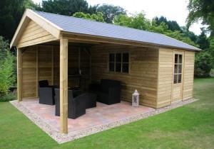 Zoek jij een tuinhuis met veranda?